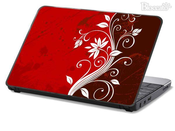 Artesanato De Croche Para Banheiro ~ Skin Adesivo p Notebook, Netbook, Lap Top Floral Vermelho Bloccato Adesivos